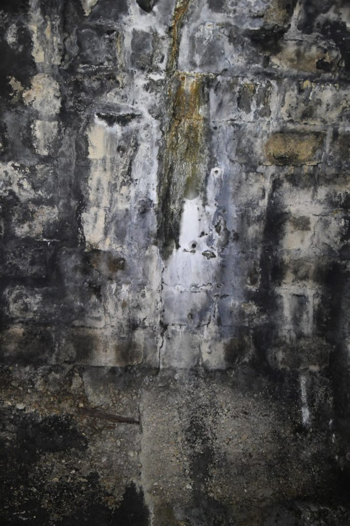 Vorher: Durch das Tunnelgewölbe drang Wasser ins Bauwerk.